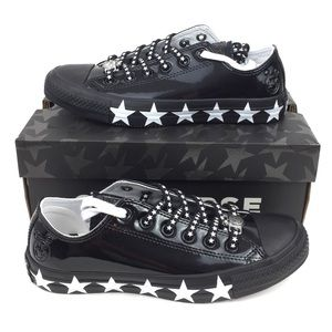 NEW Converse CTAS Ox Black Miley Cyrus Shoes Black